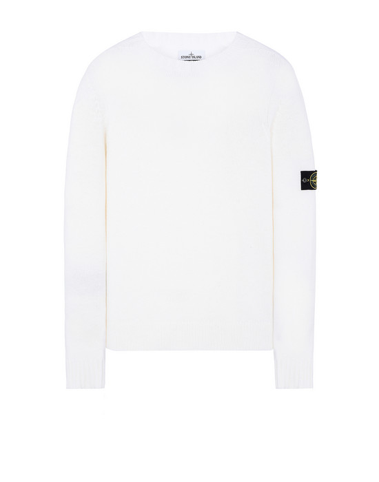 STONE ISLAND 505A3 Sweater Man Natural White