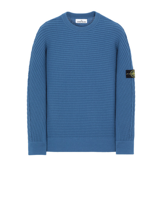 STONE ISLAND 502A1 Sweater Man Periwinkle