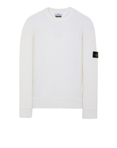STONE ISLAND 502A1 Sweater Man Natural White EUR 349