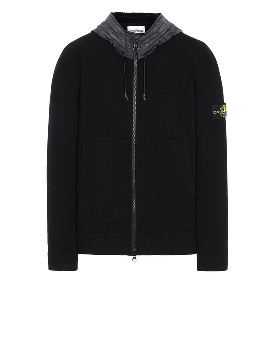 STONE ISLAND 585A1 Sweater Man Black