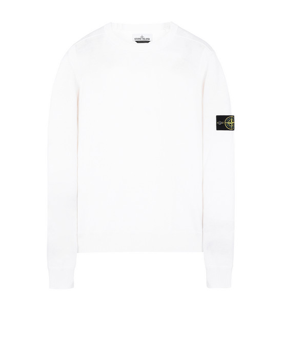 STONE ISLAND 526C4 Sweater Man Natural White