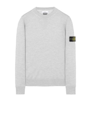 STONE ISLAND 526C4 Sweater Man Pearl Gray USD 338