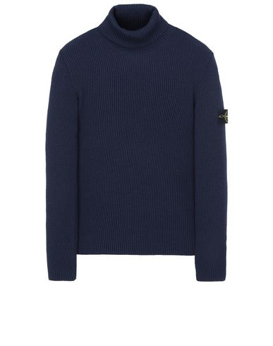 STONE ISLAND 522C2 Sweater Man Marine Blue USD 316