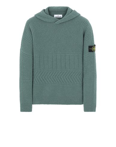 STONE ISLAND 548B3 Sweater Man Sage Green EUR 479