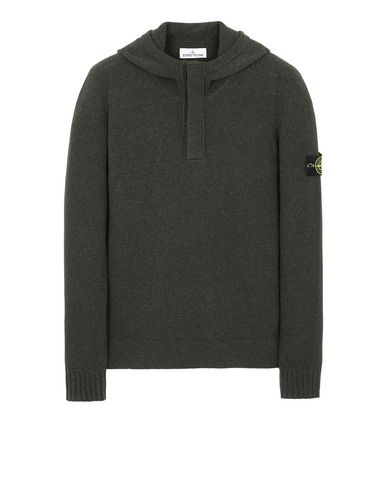 STONE ISLAND 507A3 Sweater Man Musk Green EUR 319