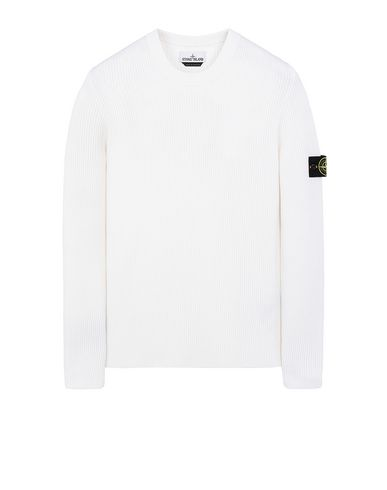 STONE ISLAND 521C2 Sweater Man Natural White EUR 216