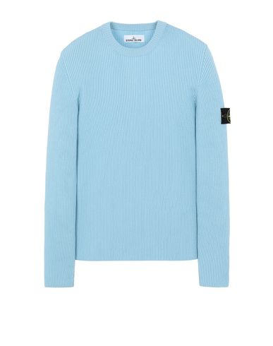 STONE ISLAND 521C2 Sweater Man Aqua USD 290