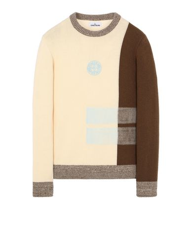 STONE ISLAND 539D2 Sweater Man Butter EUR 253