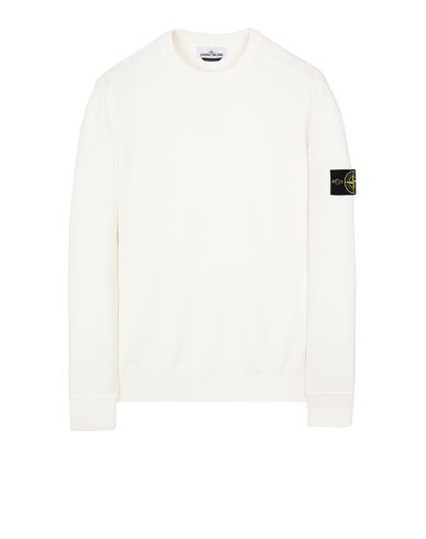 STONE ISLAND 541A2 Sweater Man Natural White EUR 329