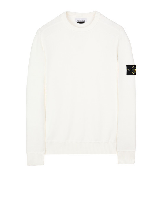 STONE ISLAND 541A2 Sweater Man Natural White