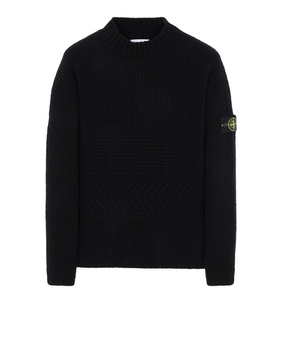 STONE ISLAND 504B3 Sweater Man Black