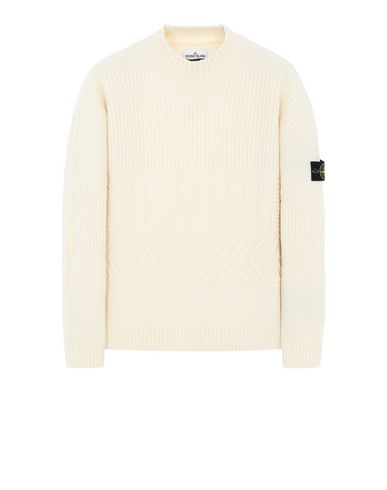 STONE ISLAND 504B3 Sweater Man Butter EUR 419