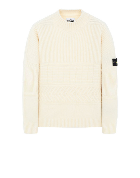 STONE ISLAND 504B3 Sweater Man Butter