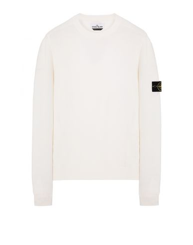 STONE ISLAND 591A1 Sweater Man Natural White USD 174