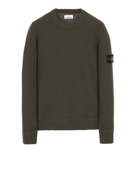 STONE ISLAND 577B6 Sweater Man Musk Green