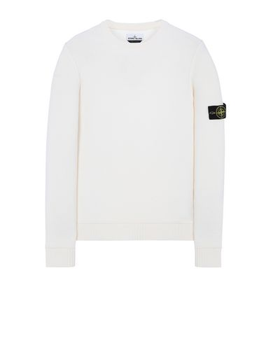 STONE ISLAND 577B6 Sweater Man Natural White EUR 162