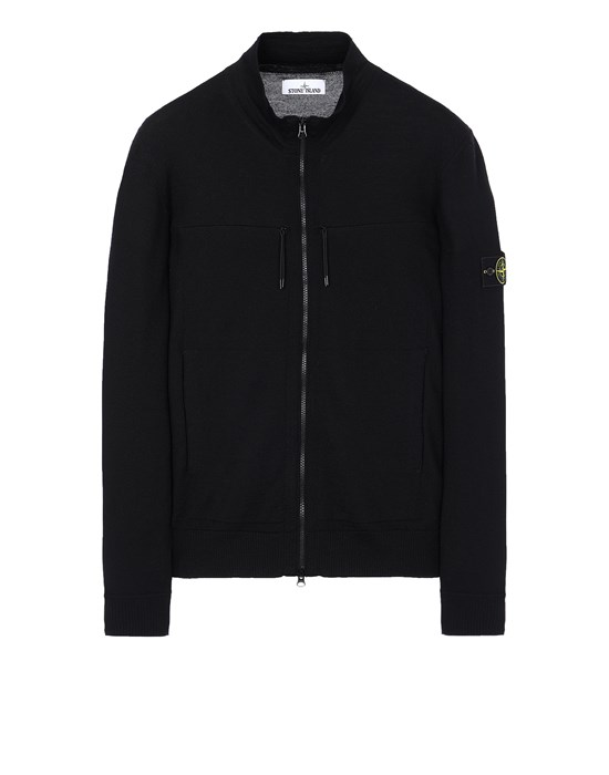 STONE ISLAND 537C4 Sweater Man Black