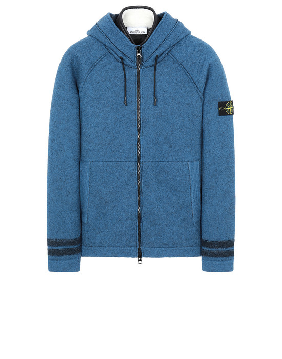 Sweater Man 565A6 FELTED PURE WOOL_DETACHABLE LINING Front STONE ISLAND