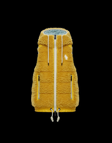 HOODED GILET Yellow Sweatshirts & midlayers Woman