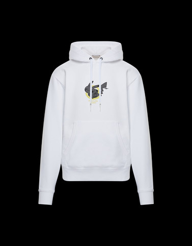 HOODED SWEATER White Sweatshirts Man