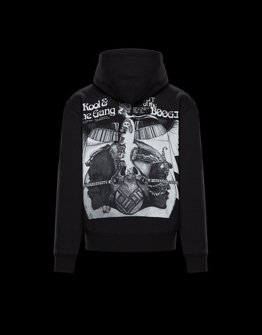 HOODED SWEATER Black Sweatshirts Man
