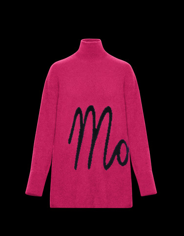 HIGH NECK Fuchsia Knitwear Woman