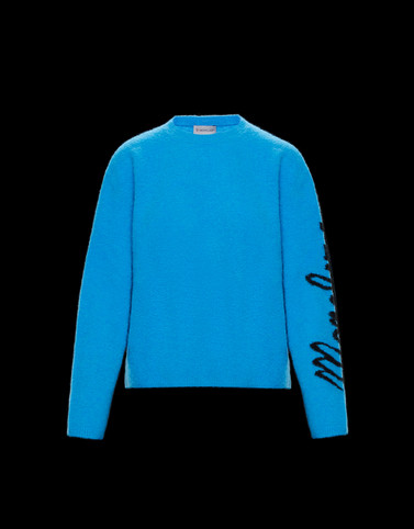 CREWNECK Turquoise Knitwear Woman