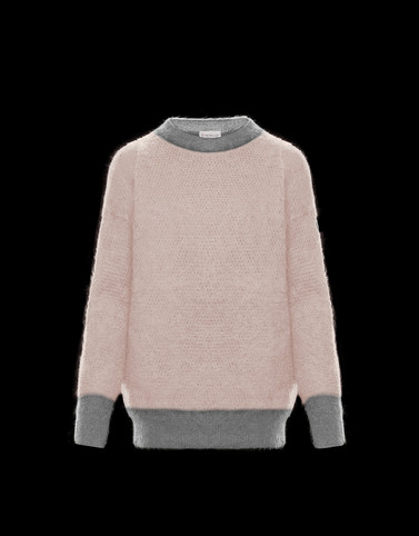 CREWNECK Blush Pink Category Crewnecks Woman