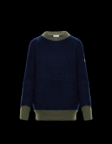 CREWNECK Dark blue Category Crewnecks Woman