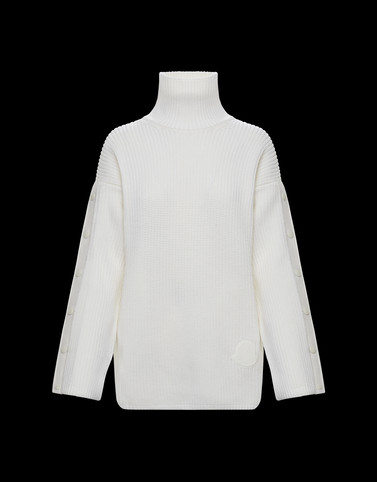 HIGH NECK Ivory Knitwear Woman