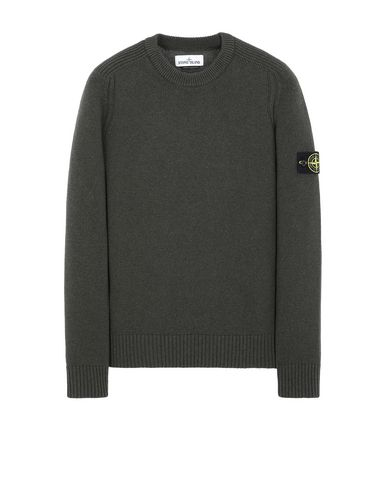 STONE ISLAND 552A3 Sweater Man Musk Green EUR 179
