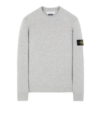 STONE ISLAND 552A3 Sweater Man Pearl Grey EUR 179