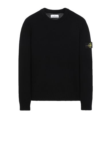 STONE ISLAND 552A3 Sweater Man Black USD 323