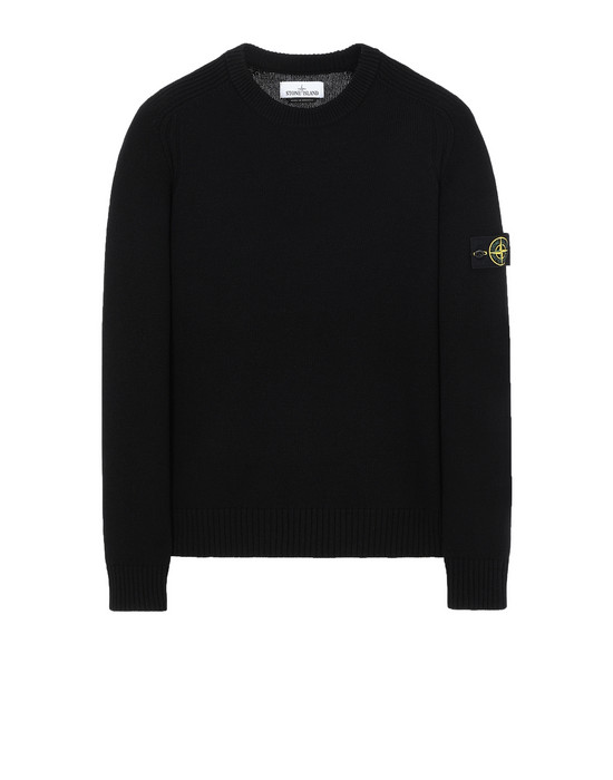 STONE ISLAND 552A3 Sweater Man Black