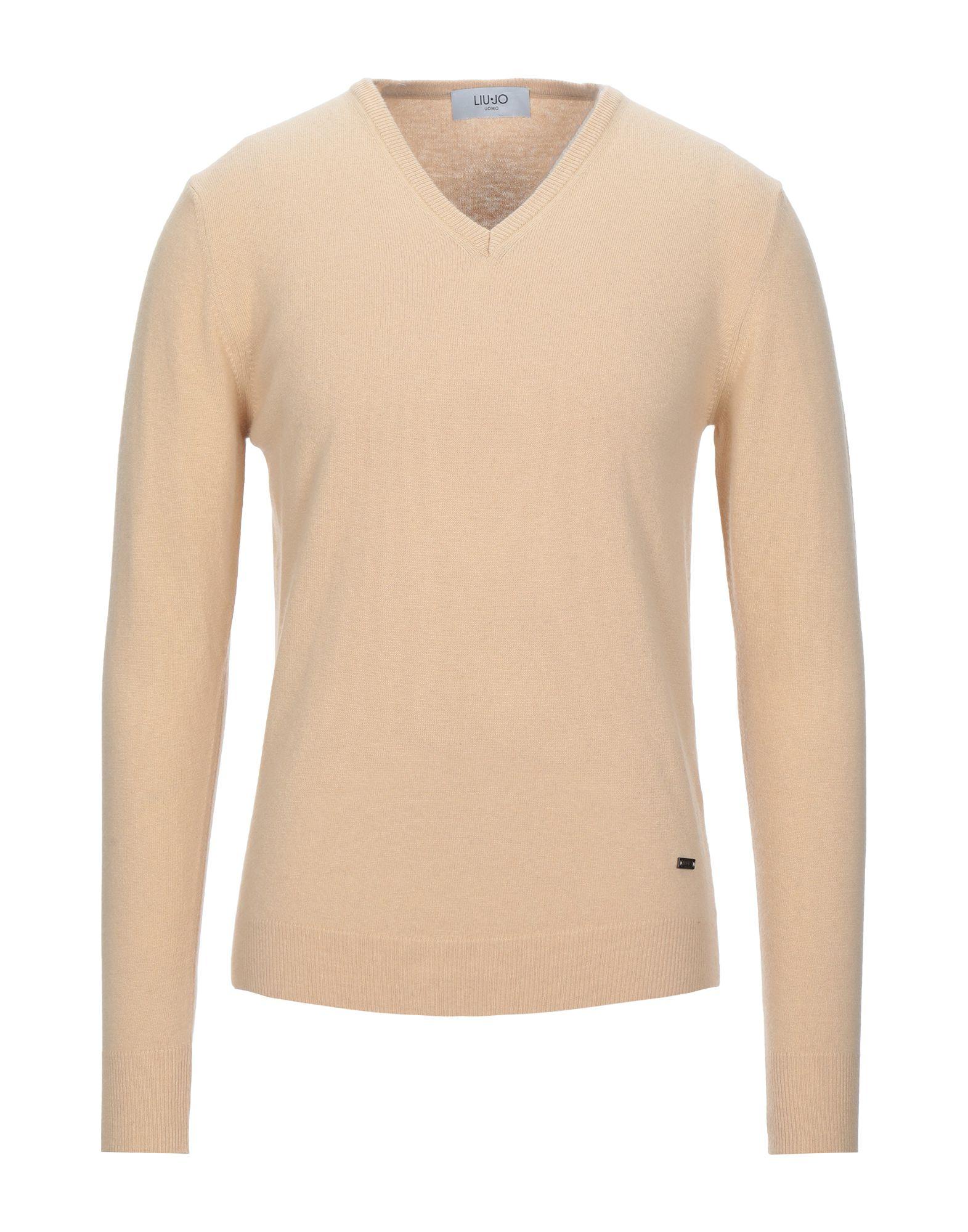 《セール開催中》LIU? JO MAN メンズ プルオーバー サンド XL ウール 40% / レーヨン 25% / ナイロン 25% / カシミヤ 10%