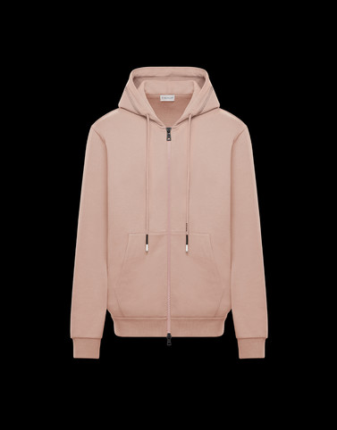HOODED CARDIGAN Blush Pink Sweatshirts Man