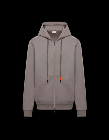 HOODED CARDIGAN Dove grey Sweatshirts Man
