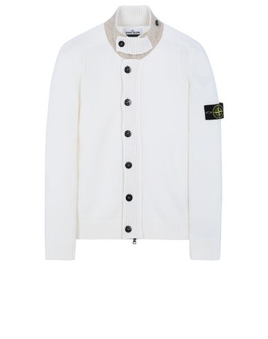STONE ISLAND 564A3 Sweater Man Natural White EUR 359