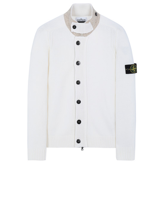 STONE ISLAND 564A3 Sweater Man Natural White