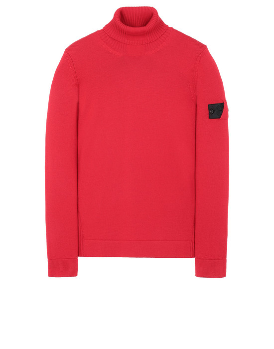 STONE ISLAND SHADOW PROJECT 510A5 RIBBED TURTLE NECK  Tricot Homme Rouge