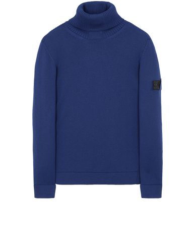 STONE ISLAND SHADOW PROJECT 510A5 RIBBED TURTLE NECK  Sweater Man Indigo USD 369