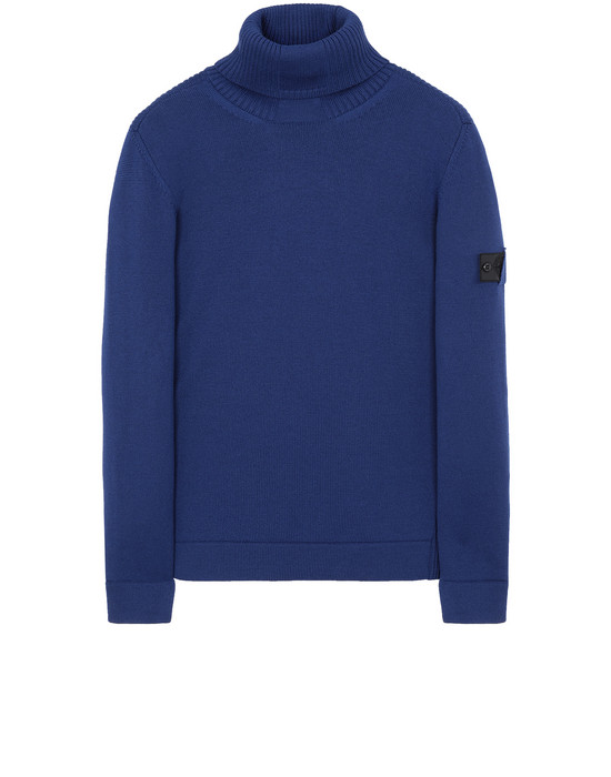 STONE ISLAND SHADOW PROJECT 510A5 RIBBED TURTLE NECK  Sweater Man Indigo