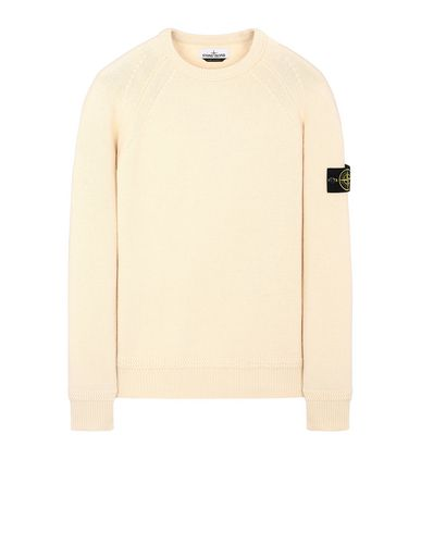 STONE ISLAND 586A7  Sweater Man Butter USD 240