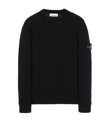 STONE ISLAND 586A7  Sweater Man Black USD 268