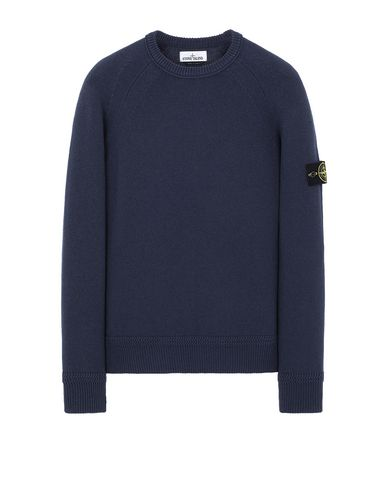 STONE ISLAND 586A7  Sweater Man Marine Blue USD 249