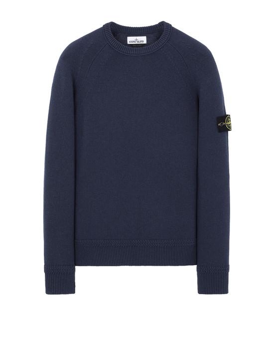 STONE ISLAND 586A7  Sweater Man Marine Blue
