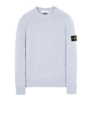 STONE ISLAND 586A7  Sweater Man Pearl Grey EUR 187