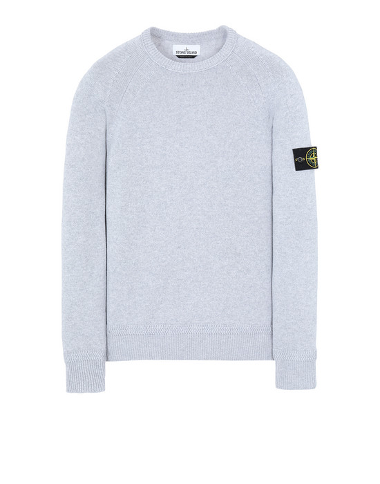 STONE ISLAND 586A7  Sweater Man Pearl Gray