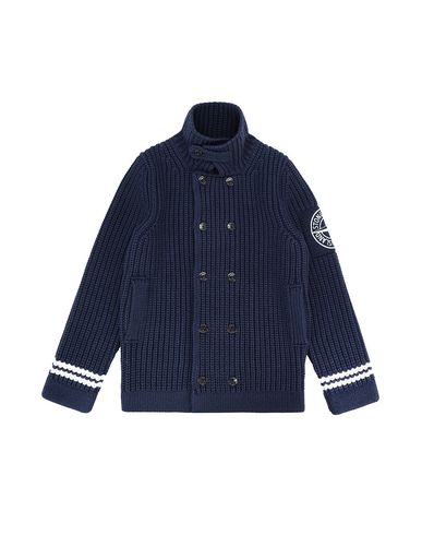 STONE ISLAND TEEN 517D1 Sweater Man Blue EUR 586