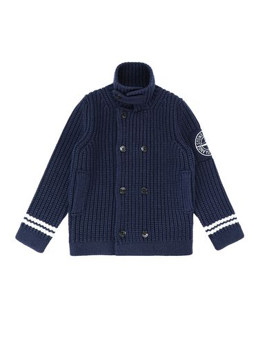 STONE ISLAND JUNIOR 517D1 Sweater Man Blue EUR 373